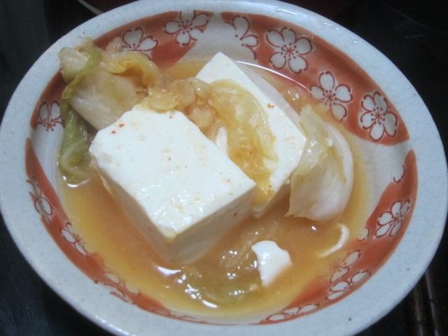 IMG 0310 - キムチと大根の湯豆腐で残り汁雑炊