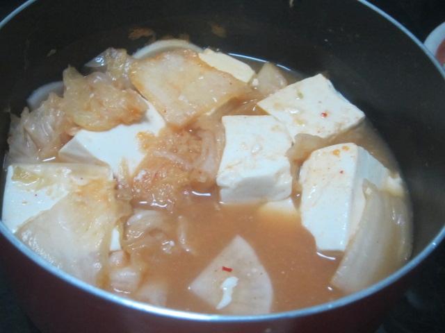 IMG 0311 - キムチと大根の湯豆腐で残り汁雑炊