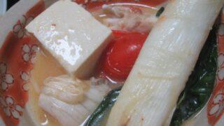 IMG 0316 320x180 - ブリのアラとぶっといネギの味噌鍋と大量のほうれん草