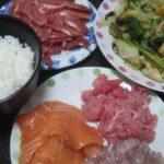 IMG 0400 150x150 - 和歌山県産のマグロ中落ちとアジ&サーモン刺身にレタスの炒め物