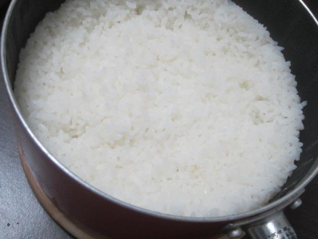 IMG 0754 - 土鍋(土釜)の底が抜けたので普通にステンレスな鍋で炊飯