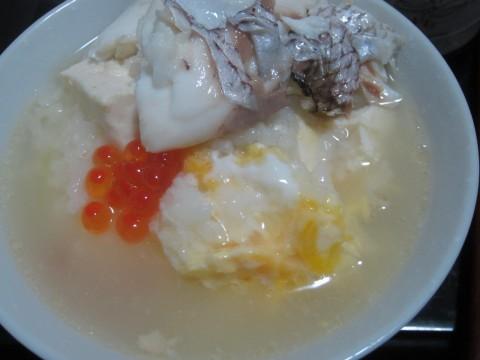 IMG 0093 480x360 - 鯛と鮟鱇を鍋にして混ぜて雑炊しました