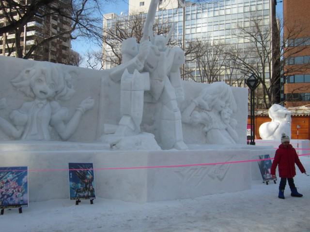IMG 0011 640x480 - 小雪像系はゲームやアニメの系列が増えたように思います【札幌雪祭り2016Part02】