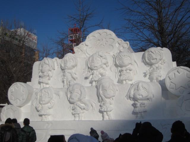 IMG 0016 640x480 - 小雪像系はゲームやアニメの系列が増えたように思います【札幌雪祭り2016Part02】