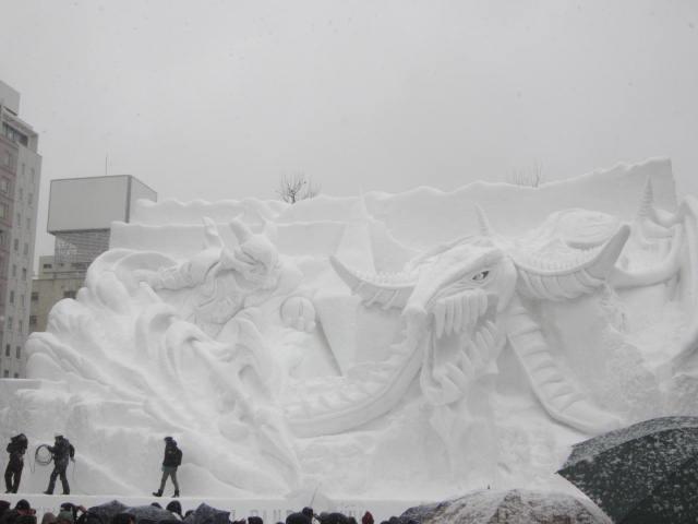 IMG 0011 - さっぽろ雪祭り2018年前編 / 雪像紹介とONちゃん焼きとか