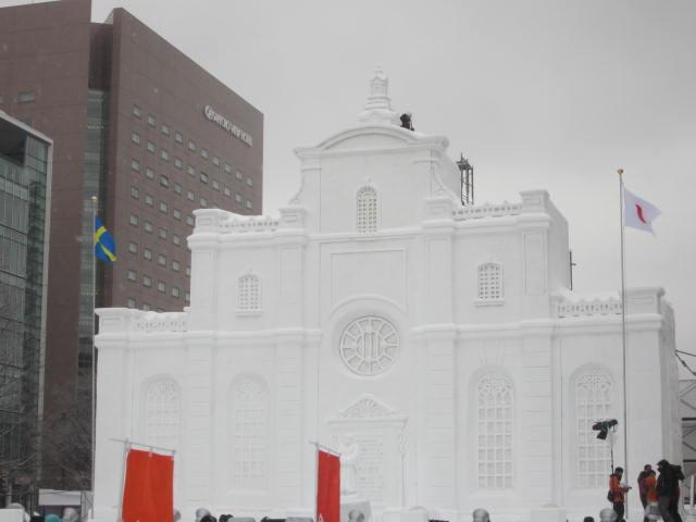 IMG 0018 - さっぽろ雪祭り2018年前編 / 雪像紹介とONちゃん焼きとか