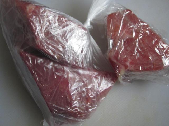 IMG 0028 - 食べきれずに余ったら小分けして冷凍保存でどうぞ【生ハム原木シリーズPart03】