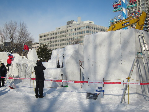 6f648ef6 s - 2013年 さっぽろ雪祭りPart3 ~雪像の作り方~