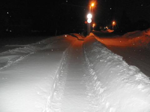 868f413f s - 北海道の冬の生活08 ~除雪状況/最近の食事~