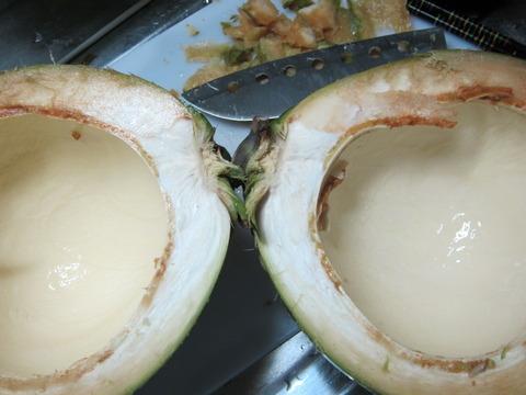 9c66531f s - 北海道の春の生活23 ~南国フルーツ挑戦 / 椰子の実の切り方~