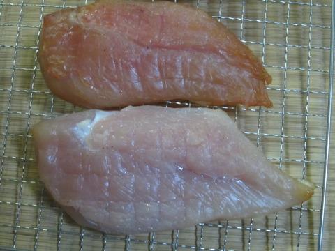 9c778912 s - 燻製干し肉中編 / 干して三日目くらい干し肉の状態と殻を割った卵が保存できないことを確認