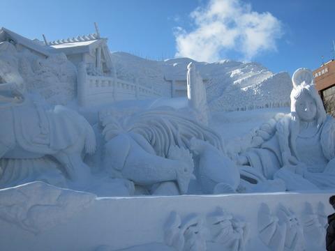 ab76345b s - 2013年 さっぽろ雪祭りPart1 ~初日の天気気温、他大雪像紹介~