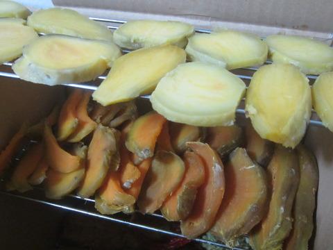 e42a5cb6 s - 安納芋で干し芋作りますPart2 / 厚切りと細切りで干してみた