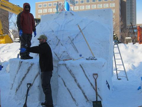 f41c4c15 s - 2013年 さっぽろ雪祭りPart3 ~雪像の作り方~