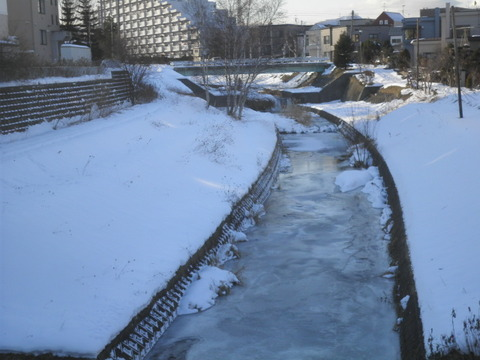 f9bb65a4 s - 北海道の冬の生活06 ~川が凍った!~